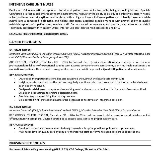 Incredible Inspiration Nursing Resume Objective 5 25 Best Ideas ...