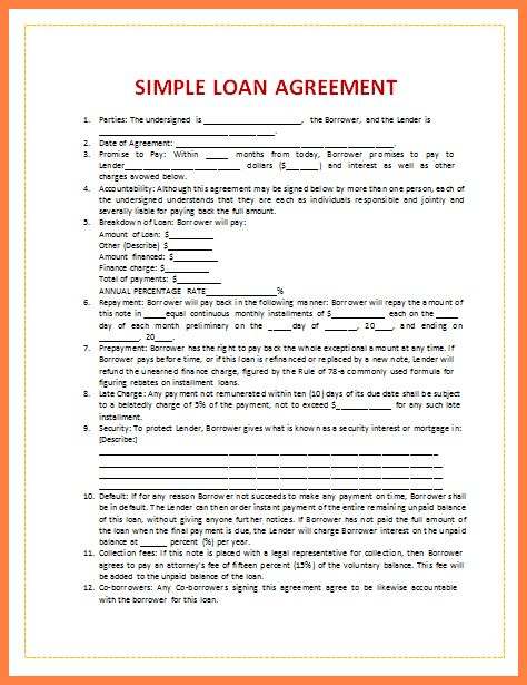 short term loan agreement form. sample settlement letter creditor ...