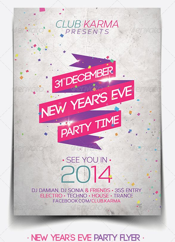 30 Best 2014 New Year Flyer Templates - WDT | Web Design for ...