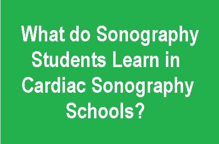 out of these 21 only 5 schools have cardiac sonography training ...