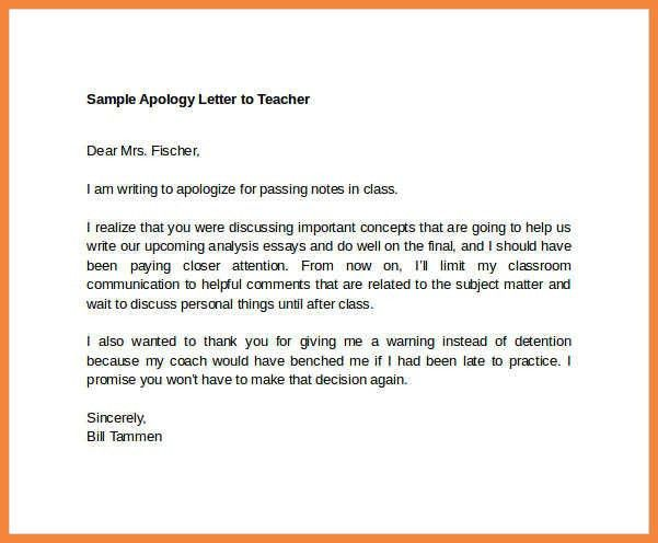 apology letter example | good resume examples