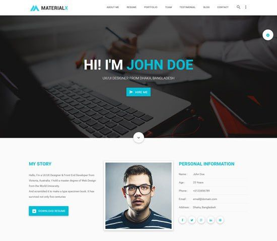 40+ Best Personal Website Templates Free & Premium - freshDesignweb