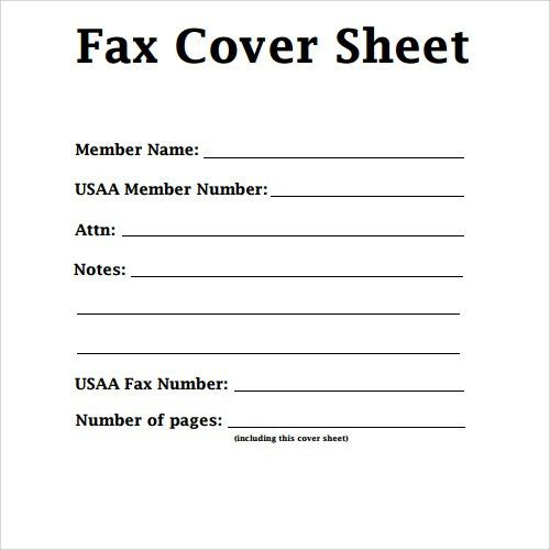 Sample Fax Cover Sheet Template - Shishita-world.com
