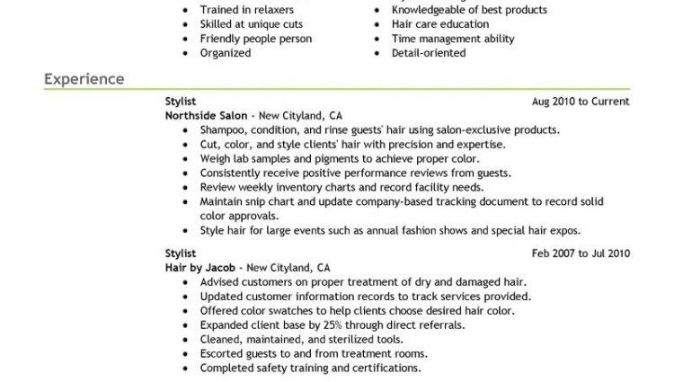 hair stylist resume cover letter by dwayne weisman - Writing ...