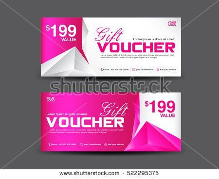 Green Discount Voucher Template Coupon Design Stock Vector ...
