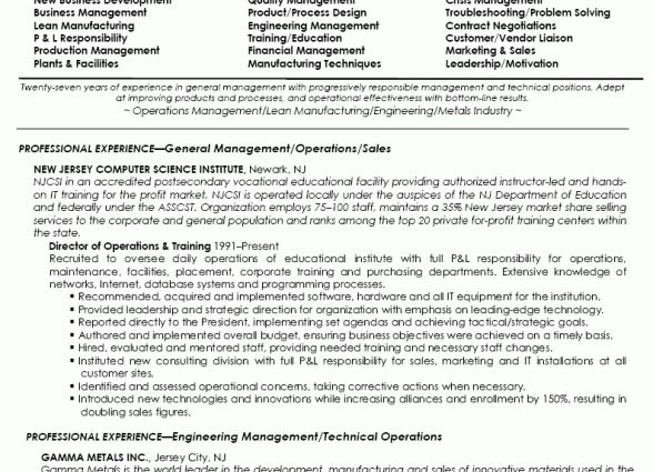 Director Of Operations Resume Samples Director of Operations Job ...