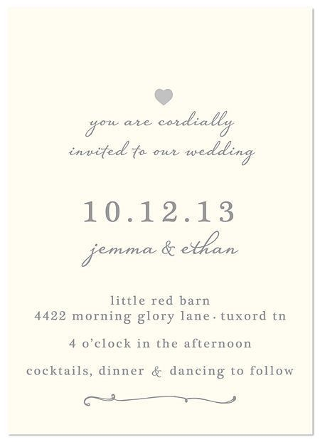 Words For A Wedding Invitation #12573
