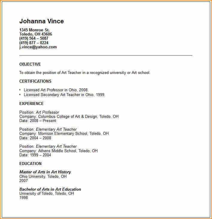 12+ how to make a cv fo teacher - Basic Job Appication Letter
