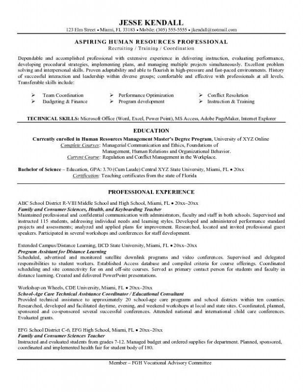 High School Resume Objective – Resume Examples with Resume ...