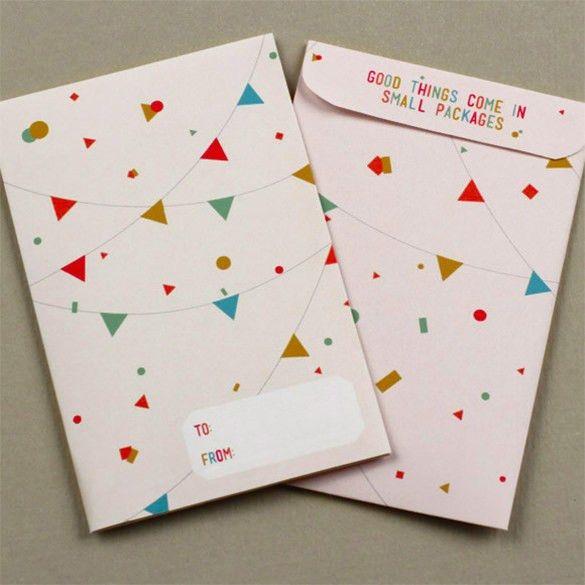 10+ Gift Card Envelope Templates - Free Printable Word, PDF, PSD ...