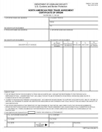 blanket certificate of origin - Blanket Hpricot.com
