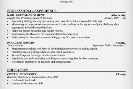 Affordable Price - resume samples market research analyst
