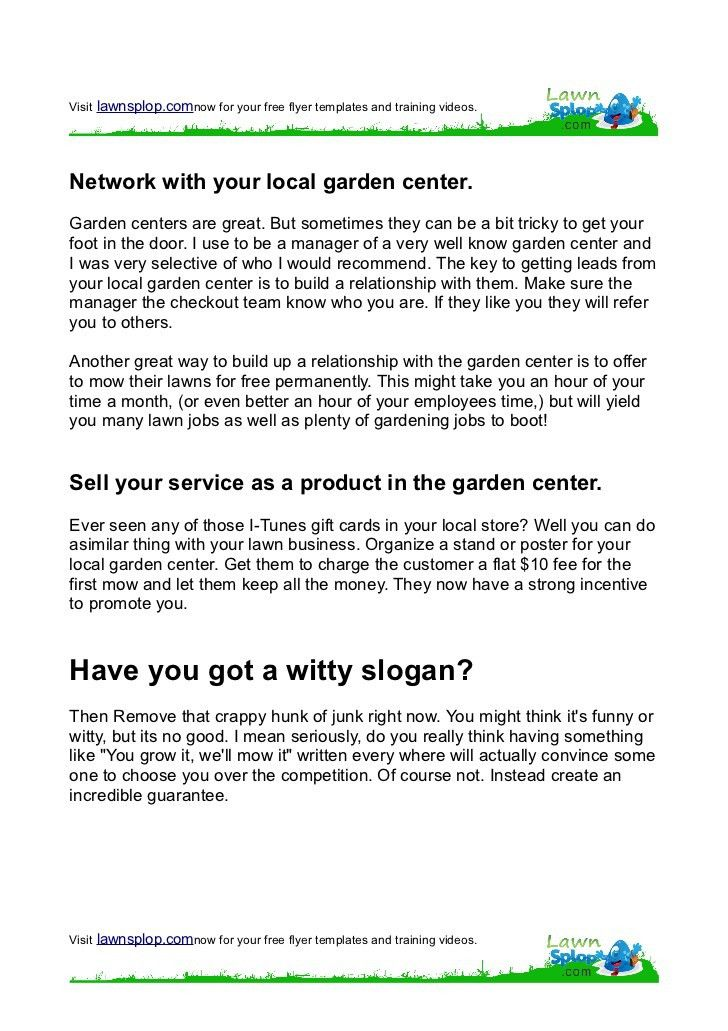 start a lawn care service business