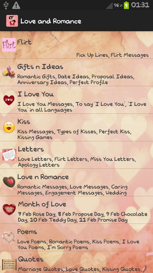 Love Letters & Romantic Quotes - Android Apps on Google Play