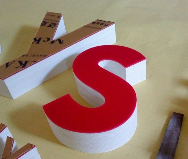 Outdoor or Indoor big foam PVC signboard letters for shop ...