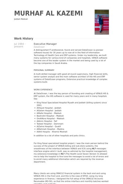 Executive Manager Resume samples - VisualCV resume samples database