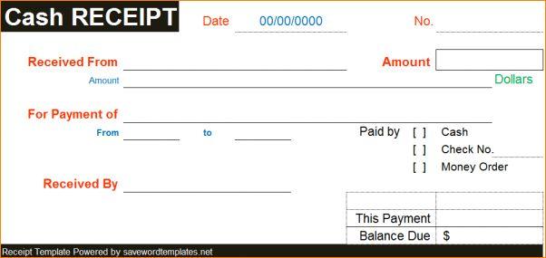 5+ cash receipt template word | Outline Templates