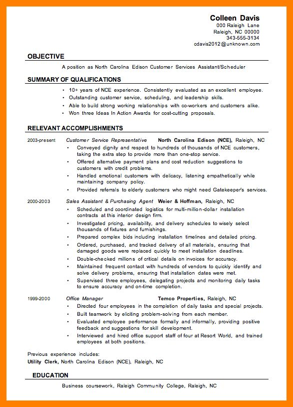 8+ resume examples for customer service | list of reference