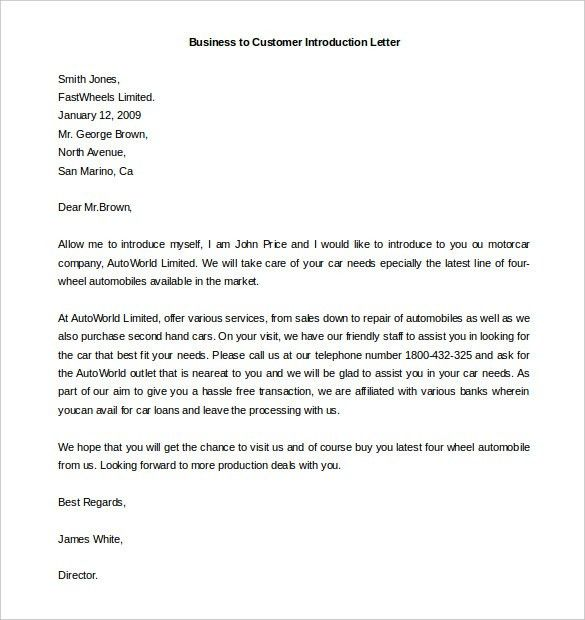 Collection of Solutions Introduction Business Letter Template On ...