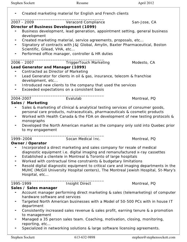 Appointment Setter Resume appointment setters resume appointment