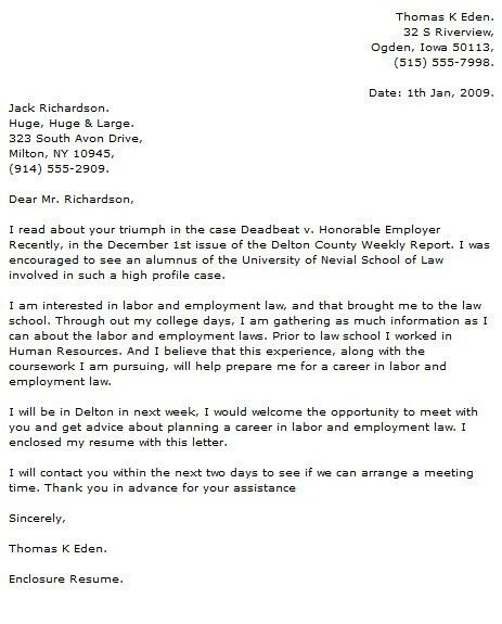 Legal Cover Letter Examples - Cover Letter Now