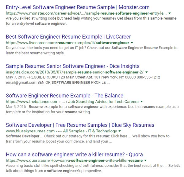 entry level software engineer resumes - Sample Resume Entry Level Software Engineer