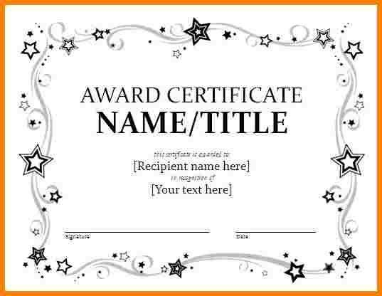 Sample Award Certificates. Welldone Award Certificate Template ...