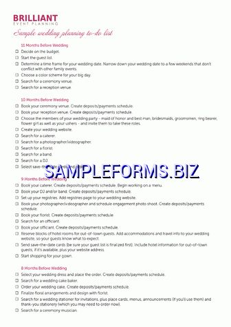 To Do List templates & samples forms