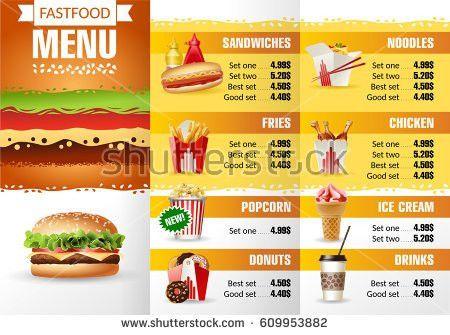 Template Restaurant Menu Stock Vector 578843122 - Shutterstock