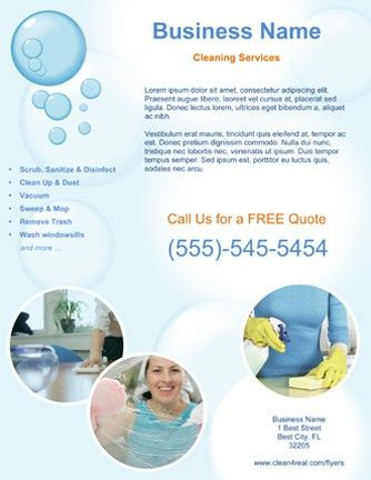 Customized Cleaning Service Flyer Templates Cleaning Service Flyer ...