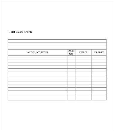 Trial Balance Sheet | Free & Premium Templates
