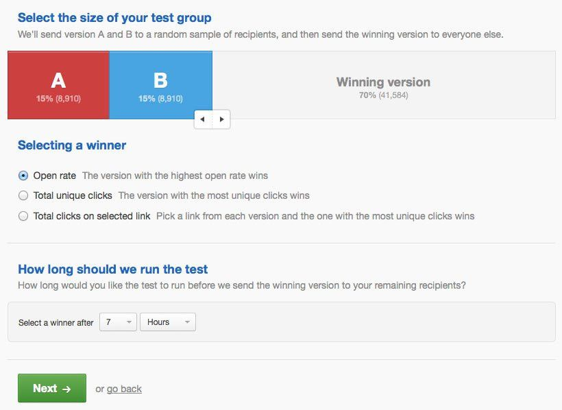 A/B test your email campaigns | Campaign Monitor
