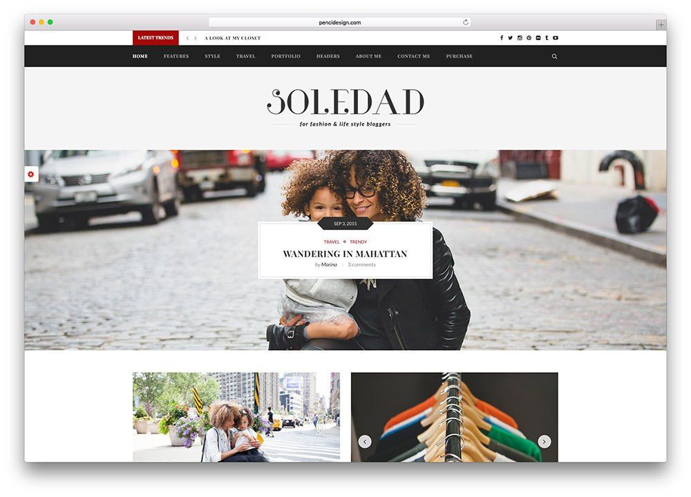 20 Best Fashion Blog & Magazine WordPress Themes 2017 - colorlib