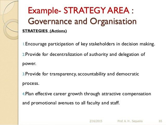Building a STRATEGIC PLAN for an Educational Institution