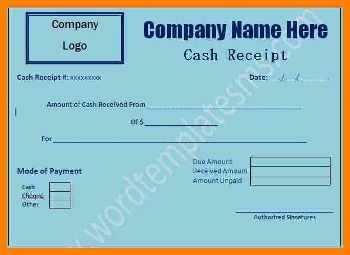 5+ cash receipt format in word | fancy-resume