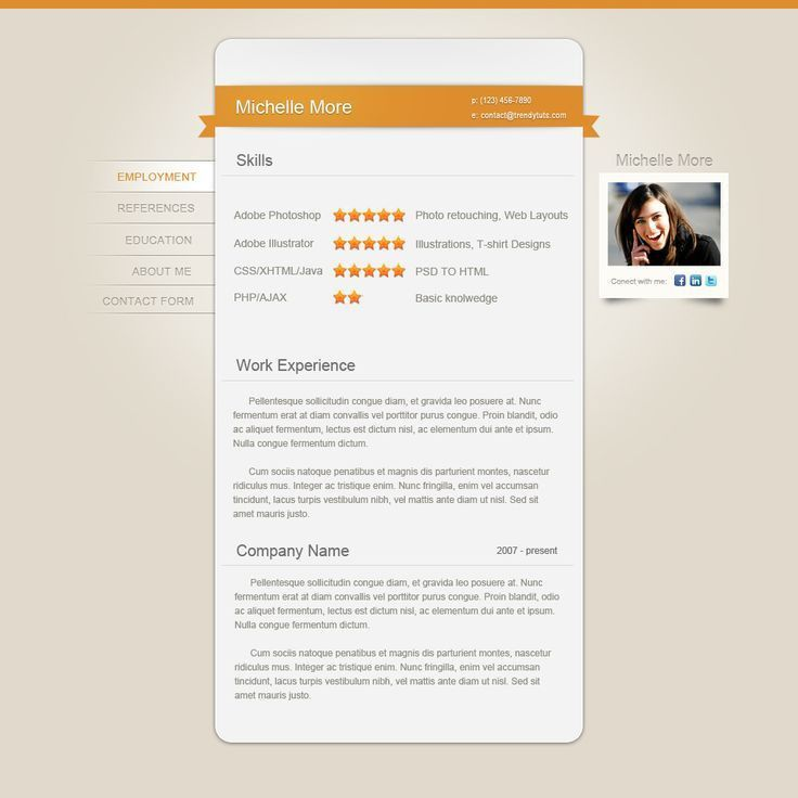 103 best Creative CV~ images on Pinterest | Resume ideas, Cv ideas ...