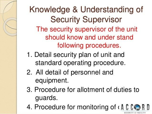 Security supervisor ppt