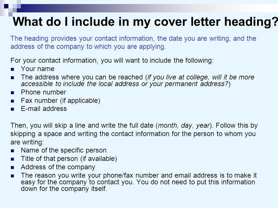 what to include in a covering letter for a job Are you writing a cover letter careeronestop will show you in your cover letter: heading and greeting include cover letters cover letter sample job.