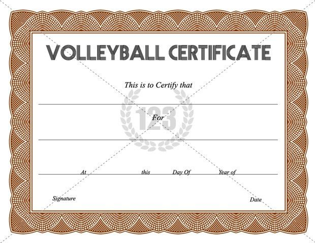 Get Free Volleyball Certificate Templates -123Certificate ...