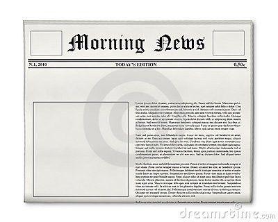 Blank Newspaper Template | cyberuse
