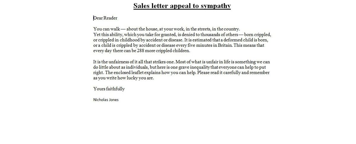 Sales Letters | business letter examples