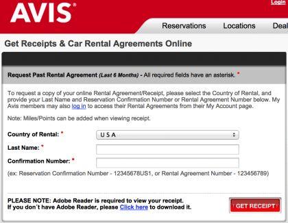 Download Rental Car Receipts   Hertz   National   Enterprise ...