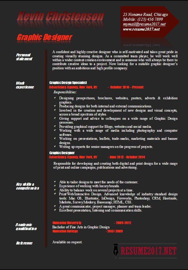 Graphic designer resume examples 2017 •