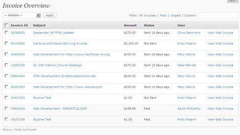 Web Invoice – Invoicing and billing for WordPress — WordPress Plugins