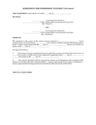 VIC Residential Lease & Tenancy Forms | Legal Forms and Business ...