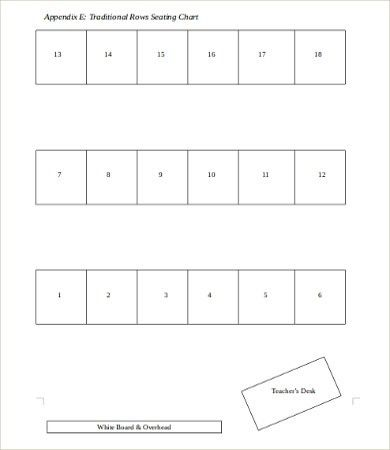 Teacher Seating Chart Template - 5+Free Word, PDF Documents ...