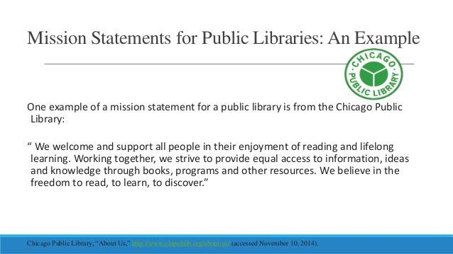 Creating a library mission statement