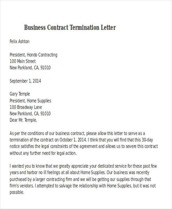 32+ Termination Letter Examples | Free & Premium Templates
