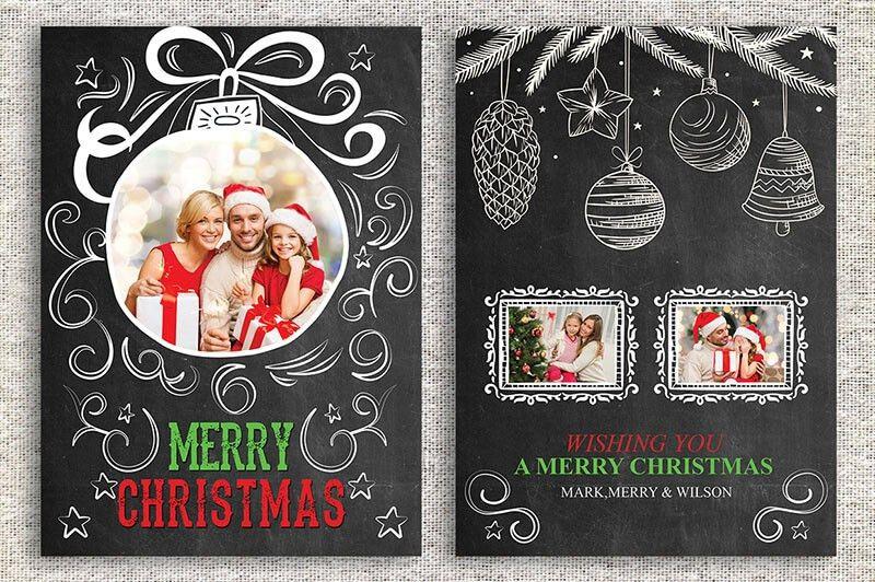 Printable Christmas Thank You Card Templates | Creative Template ...
