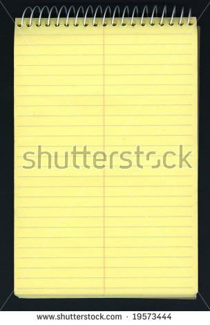 Notebook Paper Yellow White Lined Paper Stock Vector 616322576 ...